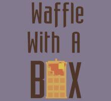 """Waffle With a Box"" Waffle Box Productions Tee Kids Tee"