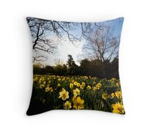 Daffodil Crop Throw Pillow