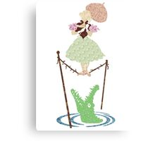 Stretching Room Tightrope Floral Canvas Print