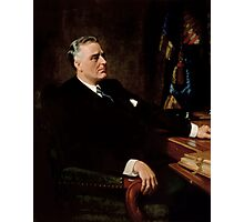 FDR Official Portrait Photographic Print
