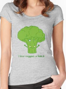 I love veggies a bunch Women's Fitted Scoop T-Shirt