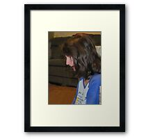 wii sport 199...this look priceless Framed Print