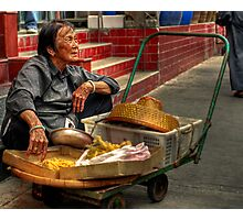 Old Lady Trading - Hong Kong / Tai O Photographic Print