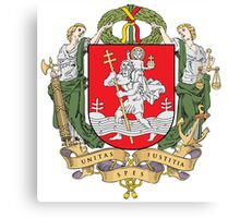 Coat of Arms of Vilnius Canvas Print