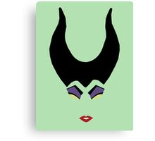 Minimalist Maleficent Canvas Print