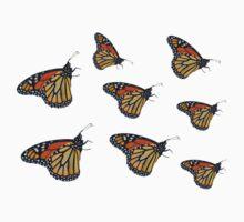 Butterfly Bonanza One Piece - Short Sleeve