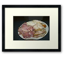 Ham & Turkey Framed Print