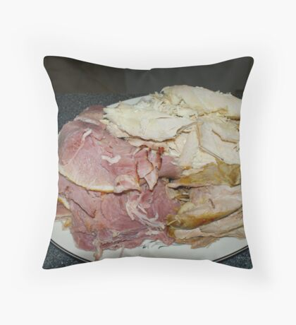 Ham & Turkey Throw Pillow