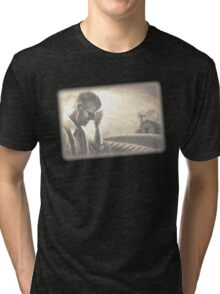 BioShock – Is a Man Not Entitled to the Sweat of His Brow? Tri-blend T-Shirt
