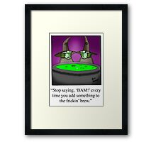 Funny Cooking Humorous Art Framed Print
