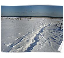 Snow Path to the Summer Beach Poster
