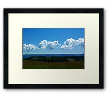 Clouds Over The Blue Ridge Framed Print