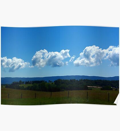 Clouds Over The Blue Ridge Poster