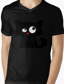 Cat looking at something Mens V-Neck T-Shirt