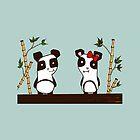 Two Pandas by Michowl