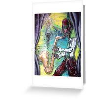 Jazz-Sax Greeting Card