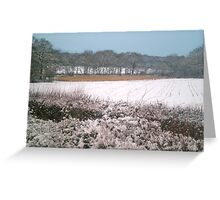 Snow-covered Greeting Card
