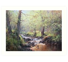 First Colour, Holystone, Northumberland Art Print