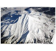 Mt. Bachelor from Above Poster