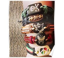 Crafty Accessories' handmade leather bracelets Poster