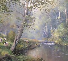 Grazing by the Coquet, Northumberland, England by JoeHush