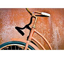 Shadows and rust Photographic Print