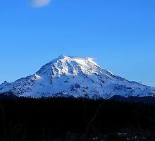 Sundown on Mount Rainier by Jodi Morgan
