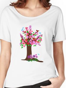 Spring tree with blossoms Women's Relaxed Fit T-Shirt