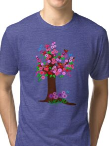 Spring tree with blossoms Tri-blend T-Shirt