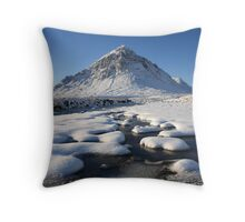Buachaille Etive Mòr on Christmas Day. Throw Pillow