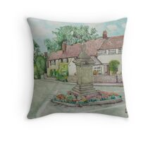 Gotherington War Memorial Throw Pillow