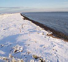 Snowy day at Burnham on Crouch by AC Faithfull