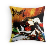 mayhem down of the black hearts Throw Pillow