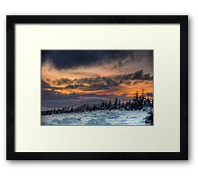 Winter on the hill Framed Print