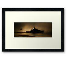 Navy Patrol Framed Print