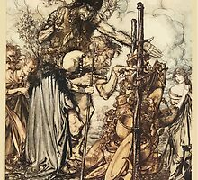 The Rhinegold & The Valkyrie by Richard Wagner art Arthur Rackham 1910 0135 Hey Come Hither Stop Me This Cranny by wetdryvac