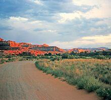 Canyonlands at sunset by nealbarnett