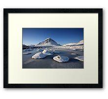 Buachaille Etive Mòr in winter. Framed Print