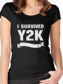 Y2K Survivor Women's Fitted Scoop T-Shirt