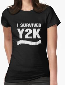Y2K Survivor Womens Fitted T-Shirt