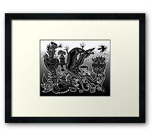 dance of the geckos Framed Print