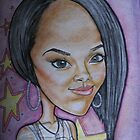 Rihanna caricature by Aestheticz .