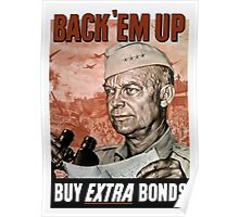 Back 'Em Up -- General Eisenhower Poster Poster