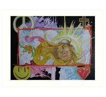 """Up above"" peace, joy, love, Jesus, and prosperity  Art Print"