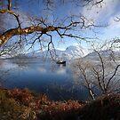 Ben Nevis & Loch Linnhe in winter. by John Cameron