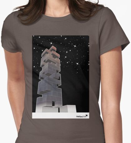 j-building by night Womens Fitted T-Shirt