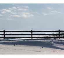 Fence Shadows on the Snow Photographic Print