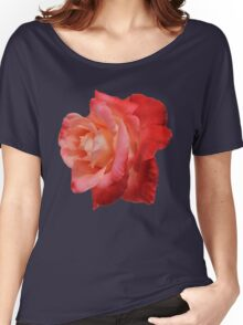 Ombré Red Garden Rose IV - Hipster/Pretty/Trendy Flowers Women's Relaxed Fit T-Shirt