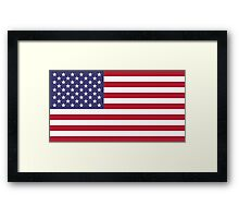 "The national flag of the United States of America -  Authentic 10:19 ""G-spec"" (for ""government specification"" ) Scale and colors Framed Print"