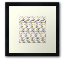 """Love"" Typography in Faux Gold and Silver Paint Framed Print"